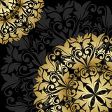 Gold floral pattern. Vector floral pattern. Gold background Stock Photography