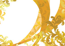 Gold floral pattern. Vector illustration Royalty Free Stock Images