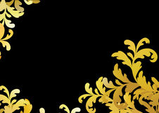 Gold floral pattern. Vector illustration Stock Photo