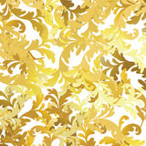 Gold floral pattern Royalty Free Stock Image