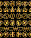 Gold floral patterns Royalty Free Stock Photos