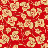 Gold Floral Rose seamless pattern royalty free stock images