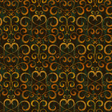 Gold floral seamless background Royalty Free Stock Image