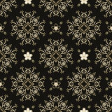 Gold floral seamless vector pattern background vector illustration black. Eps 10 format royalty free illustration