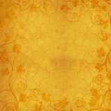 Gold Floral Textured Background Royalty Free Stock Photography