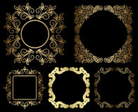 Gold floral vintage frames - vector set Stock Photography