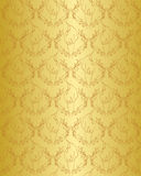 Gold floral vintage seamless pattern Royalty Free Stock Photography