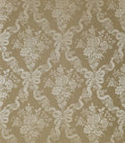 GOLD FLORAL WALLPAPER BACKGROUND Stock Image