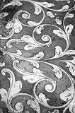 Gold flourish design. Black and white. Royalty Free Stock Images