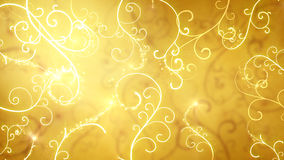 Gold flourishes ornament background. Gold flourishes ornament. Computer generated abstract background royalty free illustration