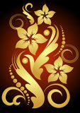 Gold flower. Abstract flower with gold leafs Royalty Free Stock Photos