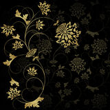 Gold  flower Stock Image
