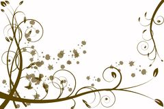 Gold flower abstraction, pattern Stock Image