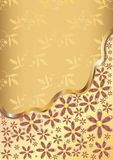 Gold flower background Stock Photography