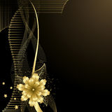 Gold Flower background Stock Images