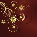 Gold Flower Design Background Royalty Free Stock Photography