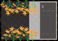 Orange Flowers Book Cover_ai Royalty Free Stock Photos