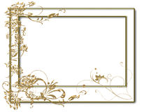 Gold flower frame Royalty Free Stock Photos
