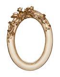 Gold flower frame Royalty Free Stock Photo