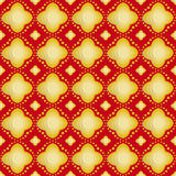 Gold flower on red background seamless patterns Royalty Free Stock Photography