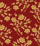 Gold flower seamless pattern Royalty Free Stock Photography