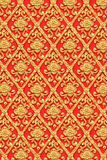 Gold flower thai art design. royalty free stock photography