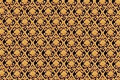 Gold flower thai art design. stock photo