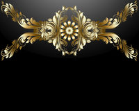 Gold flowers design. Stock Photo