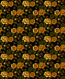 Gold flowers pattern Royalty Free Stock Photos