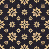 Gold flowers pattern design Stock Photos
