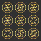 Gold flowers. Royalty Free Stock Image