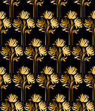 Gold flowers Royalty Free Stock Images