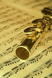Gold Flute - music background Stock Photos