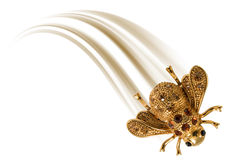Gold  fly Royalty Free Stock Images