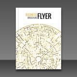 Gold Flyer design template, Greeting Card Design. Golden Dust. Vector Illustration. Royalty Free Stock Image