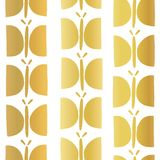 Gold foil butterfly seamless vector pattern stock illustration