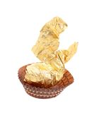Gold foil of chocolate bonbon. Royalty Free Stock Photos