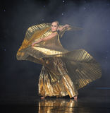 Gold foil clothes-Turkey belly dance-the Austria's world Dance Stock Photography