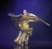 Gold foil clothes-Turkey belly dance-the Austria's world Dance Royalty Free Stock Images