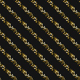 Gold foil glitter line stripes seamless pattern. Gold foil glitter line stripes dark seamless pattern. Vector shimmer abstract oblique lines grey texture stock illustration