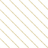 Gold foil glitter line stripes seamless pattern. Gold foil glitter line stripes white seamless pattern. Vector shimmer abstract oblique lines white texture royalty free illustration