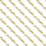 Gold foil glitter line stripes seamless pattern. Gold foil glitter line stripes white seamless pattern. Vector shimmer abstract oblique lines white texture stock illustration