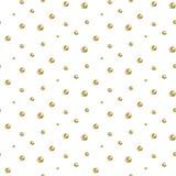 Gold foil glitter polkadot seamless pattern. stock illustration