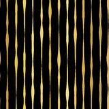 Gold foil hand drawn vertical lines seamless vector pattern. Golden wavy irregular stripes on black background. For Christmas, New royalty free illustration