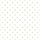 Gold foil shimmer glitter polkadot seamless pattern. Stock Image