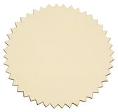 Gold foil sticker Stock Photo