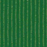 Gold foil stripes on green seamless Christmas vector pattern. Simple Christmas background. Horizontal golden strokes in vertical stock illustration