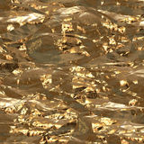 Gold foil surface Stock Image