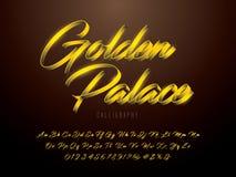 Gold font royalty free illustration