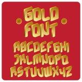 Gold font. Illustration of 3d gold font Royalty Free Illustration